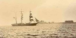 An unidentifies barque entering Barrow