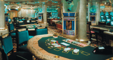 Playing in a cruise ship casino